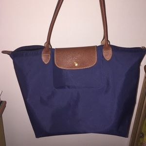 LARGE AUTHENTIC LONGCHAMP LE PLIAGE NAVY TOTE